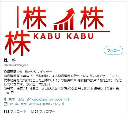 株株投資顧問のTwitter