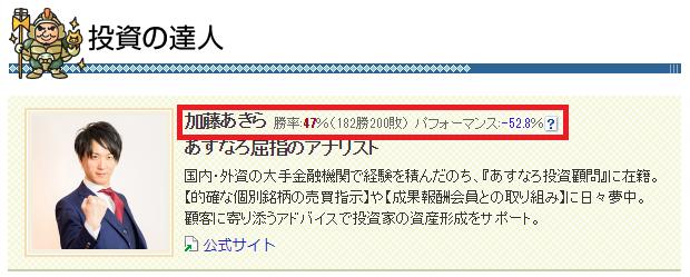 加藤あきら 株価予想